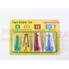 Bias Tape Maker Set / Alat Pembuat Bisban 4 Pcs CY-BTM-S4