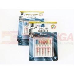 Organ Needles Combi - Jarum Jahit Set 10 Pcs (Mesin Jahit)