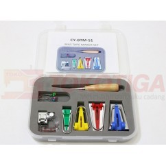Bias Tape Maker Set CY-BTM-S1 / Alat Pembuat Bisban