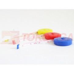 Meteran Kain/Baju/Badan 150 cm Model Putar Gulung (Tailoring Tape)