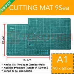 Cutting Mat 9Sea Ukuran - A1 90x60cm/Double Side - Dua Sisi (Nine Se