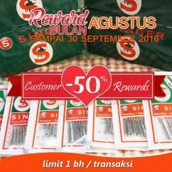 Customer Rewards - Jarum Mesin Jahit Portable Merk SINGER 7 Pcs