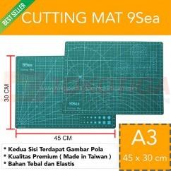 Cutting Mat 9Sea Ukuran - A3 45x30cm/Double Side - Dua Sisi (Nine Sea)