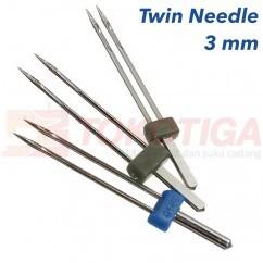 Jual Jarum Double / Dobel / Kembar / Twin Needle Mesin Jahit 3 mm